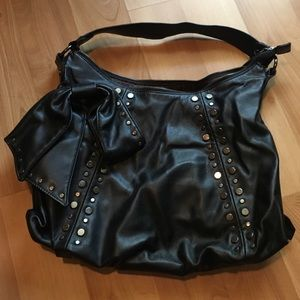 Black Purse with Silver Studs